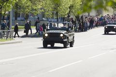 9 May 2015; Belarus, Borisov Procession of representatives of armed forces. - stock photo