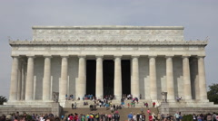 Washington DC Lincoln Memorial historic building tourism crowd 4K 014 Stock Footage