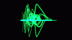 4k Abstract ripple rhythm line background,sound pattern,radar signal technology. Stock Footage