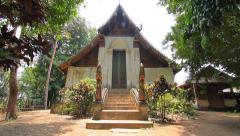 Wat Don Sak, Ancient buddha temple. Lae district, Uttaradit, Thailand Stock Footage