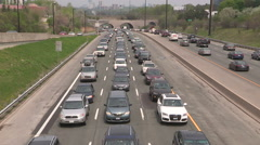 Rush hour traffic jam and gridlock in the City of Toronto Stock Footage