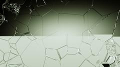 Cracked and broken glass background Stock Photos