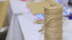 Crafts from yarn Stock Footage