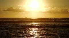Sunset, Ile De La Reunion - stock footage