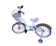 Children Bicycle. Isolated - stock illustration