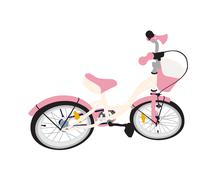 Children Bicycle. Isolated Stock Illustration