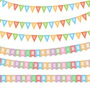 Celebratory flags for your projects.Vector Stock Illustration
