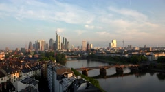 ULTRA HD 4K Timelapse traffic street financial district building Frankfurt icon Stock Footage