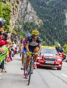Daniele Bennati Climbing Alpe D'Huez - Tour de France 2013 - stock photo