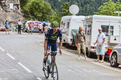 Ruben Plaza Molina Climbing Alpe D'Huez - Tour de France 2013 - stock photo