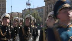 Russian Victory day Parade Volgograd 9th May 2013 Stock Footage