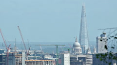 London View Over City Skyline on Hazy Summer Day Stock Footage