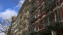 SoHo-Cast Iron Historic District. Cast-iron facades. Stock Footage