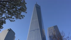 One World Trade Center (Freedom Tower). Stock Footage