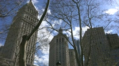 Court Skyscrapers at the Foley Square. NYC Stock Footage