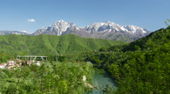 Jablanica in central Bosnia and Herzegovina - stock footage