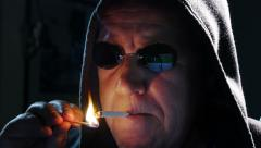 Internet hacker start smoking close 4k UHD 11626 Stock Footage