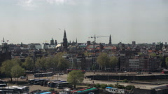 Historical center Amsterdam timelapse #2 Stock Footage