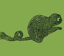 Stock Illustration of Abstract chameleon vector illustration african amphibian animal
