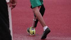 Paralympic games. High jump men. Loss of limb or limb deficiency. Impaired Stock Footage