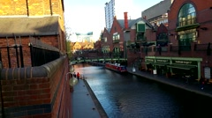 Birmingham Canal Old Line Stock Footage