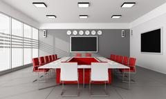 Minimalist  board room - stock illustration