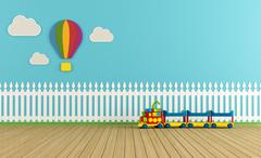 Empty colorful playroom Stock Illustration