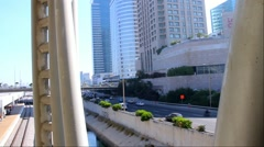 Ayalon  highway at the morning. Tel Aviv, Israel Stock Footage