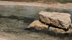 Artesian artificially beautiful  water source in Eshkol National Park, Negev - stock footage