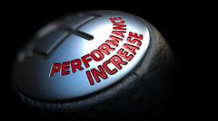 Stock Illustration of Performance Increase. Shift Knob. Concept of Influence