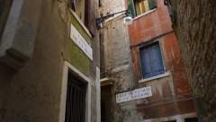 Four story building in Venice Italy Stock Footage