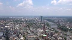 ULTRA HD 4K Timelapse Frankfurt landmark old city building bridge river emblem  Stock Footage