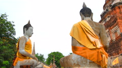 Famous ancient temple in Thailand. - stock footage