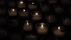 Stock Video Footage of Washington DC National Cathedral prayer candles dark 4K 019