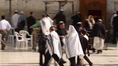 Religious ceremony at the Western Wall Stock Footage