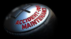 Stock Illustration of Accident-Free Maintenance on Gear Shift