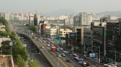 Seoul City View - Facing Gangnam Stock Footage