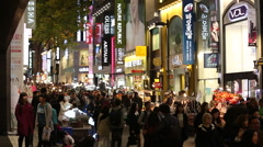 Seoul - Myeong-dong Shopping Stock Footage