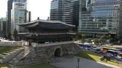 Seoul - Namdaemun - stock footage