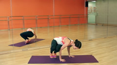 Arm Balance Pose Stock Footage