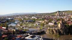 Tbilisi cityscape, Georgia Stock Footage