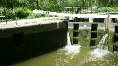 Closed lock on English canal Stock Footage