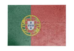 Large jigsaw puzzle of 1000 pieces- Portugal - stock photo
