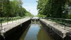 English canal and lock Stock Footage