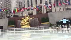 Rockefeller Center in the winter Stock Footage