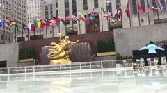 Rockefeller Center in the winter Stock Footage