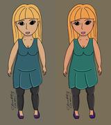 Stock Illustration of Chubby body girl vector illustration