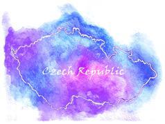 Stock Illustration of Czech Republic vector map illustration