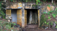 World War Two Bomb Shelter GUAM, USA Stock Footage