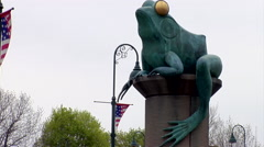 Giant frog statue Stock Footage
